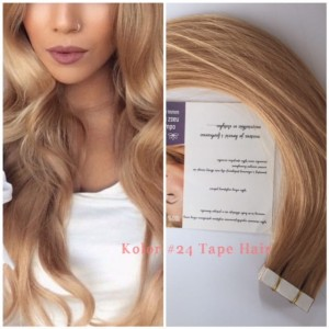 TAPE ON METODA KANAPKOWA  42 cm KOLOR 24 ZŁOTY BLOND