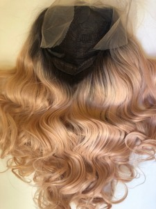 Peruka syntetyczna  Lace Front -Heat Resistant Fiber -kolor PEACH QUEEN  model nr.7